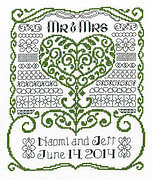 Mr & Mrs Wedding - Cross Stitch Pattern