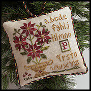 Potted Poinsettia (Sampler Tree) - Cross Stitch Pattern