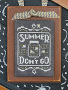 Year in Chalk September - Cross Stitch Pattern