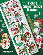 Peace Snowfriends Banner - Cross Stitch Pattern