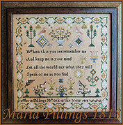 Maria Pillings 1818 - Cross Stitch Pattern