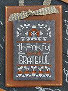 Year in Chalk November - Cross Stitch Pattern