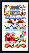 Mrs Smith Pumpkin Farm - Cross Stitch Pattern