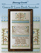 Grace & Love Birth Sampler - Cross Stitch Pattern