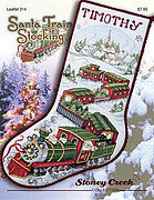 Santa Train Stocking - Cross Stitch Pattern