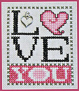 Love You w/charm - Cross Stitch Pattern