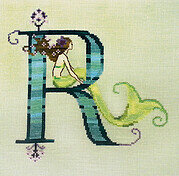 Letters From Mermaids R - Cross Stitch Pattern