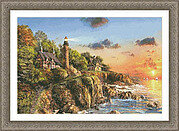 Sunset at Craggy Point - Cross Stitch Pattern