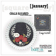 Chalk Squared - January - Cross Stitch Pattern