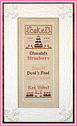 Cake Menu - Cross Stitch Pattern