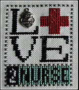 Love 2 Nurse (w/charm) Cross Stitch Pattern