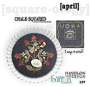 Chalk Squared - April - Cross Stitch Pattern