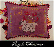 Purple Christmas - Cross Stitch Pattern