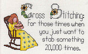 Cross Stitching - Stabbing Something 20,000 Times