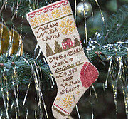 Do You Hear What I Hear? Sampler Stocking Ornament 1