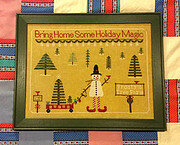 Frosty Tree Farm 3 - Cross Stitch Pattern