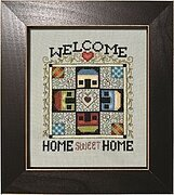 Welcome - Homeward Bound Quilt Block - Cross Stitch Pattern