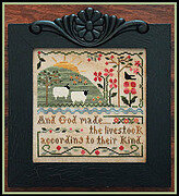 Sixth Day of Creation - Cross Stitch Pattern