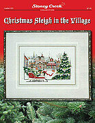 Christmas Sleigh in the Village - Cross Stitch Pattern