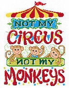Not My Monkeys - Cross Stitch Pattern