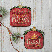 Rings & Geese - 12 Days - Cross Stitch Pattern
