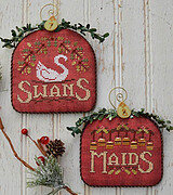 Swans & Maids - 12 Days - Cross Stitch Pattern