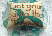 Get Your Tail to the Beach - Cross Stitch Pattern