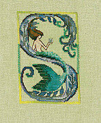 Letters from Mermaids S - Cross Stitch Pattern