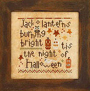 Halloween Night - Cross Stitch Pattern (with beads)