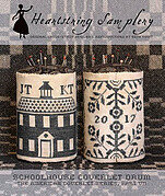 Schoolhouse Coverlet Pin Drum - Cross Stitch Pattern