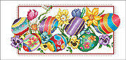Spring Eggs - Cross Stitch Pattern