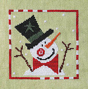 Sprightly Snowman - Cross Stitch Pattern