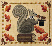 Squirrely Acorn Banquet - Cross Stitch Pattern