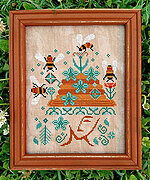 Bees in Her Bonnet - Cross Stitch Pattern