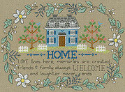 Love Lives Here - Cross Stitch Pattern