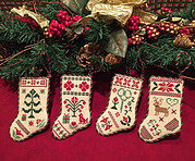 Christmas Stocking Ornaments - Cross Stitch Pattern