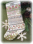 Band Sampler Stocking - Cross Stitch Pattern