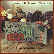 Give Thanks Pincushion - Cross Stitch Pattern