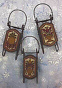 Della Robia Sleds - Cross Stitch Pattern
