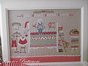 Santa Claus on the Pea - Cross Stitch Pattern