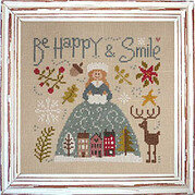 Be Happy & Smile - Cross Stitch Pattern