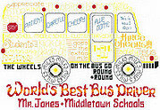 Let's Cheer for the Bus Driver - Cross Stitch Pattern