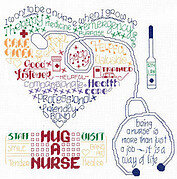 Let's Hug a Nurse - Cross Stitch Pattern