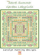 Secret Summer Garden Labyrinth - Cross Stitch Pattern