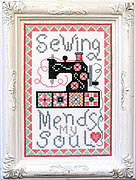 Sewing Mends My Soul - Cross Stitch Pattern