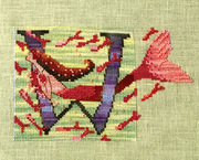 Letters From Mermaids W - Cross Stitch Pattern