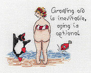 Growing Old is Inevitable - Cross Stitch Pattern