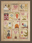 Au Fil Des Mois - Cross Stitch Pattern