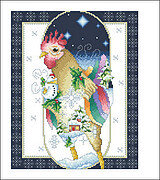 January Rooster - Cross Stitch Pattern