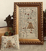 Bee Skep Garden - Cross Stitch Pattern